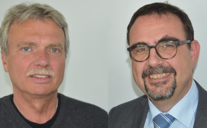 Prof. Dr. Alfred Bauer, Leiter des Bayerischen Zentrums für Tourismus an der Hochschule Kempten (links) und Klaus Holetschek, Vorsitzender des Tourismusverbands Allgäu/Schwaben.